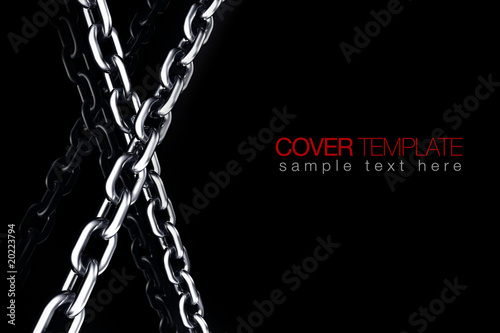 3D chrome chain link crime protection symbol