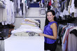 small business: happy owner of  a laundry/ dry cleaner