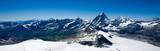 Alpine panorama with Matterhorn