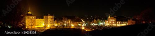 Leinwanddruck Bild Schlossplatz in Coburg