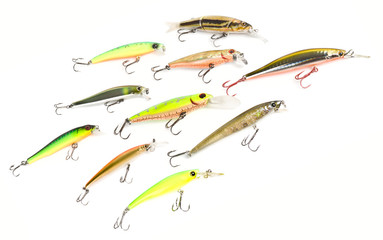 Set of plastic fishing baits