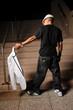 Hip Hop Man Holding jacket