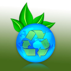 """Eco Illustration """"Recycling"""""""
