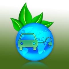 "Eco Illustration ""Electric Car"""