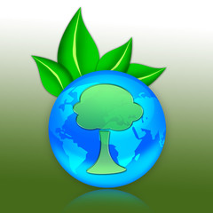 "Eco Illustration ""Tree Symbol"""