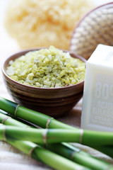 green bamboo bath salt