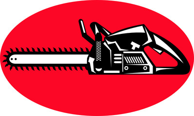 chainsaw illustration icon