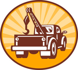 Rear view of a tow or wrecker truck icon