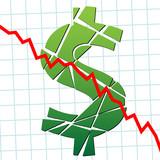 Weak broke dollar US currency money poster