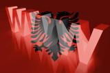 Flag of Albania,  www internet poster