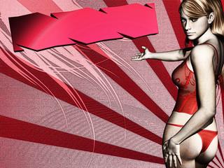 Mulher  Lingeria - Moda íntima / 3D