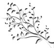 floral decor element - angle of a page - tree branch and leaf