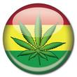 Chapa bandera rastafari con hoja marihuana