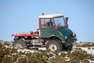 truck on snow