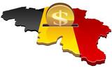 Deposit dollars in Belgium poster