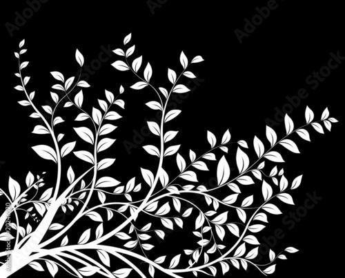 masque noir et blanc - floral decor - décoration avec arbre - 20246520