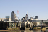 View of City of London over Thames