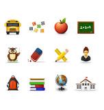 Fototapety School icons, part 1