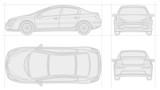 Fototapety Car scheme