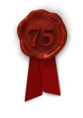 Siegel 75 rot