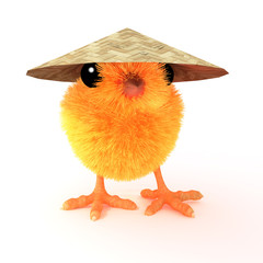 Happy Chinese Chick