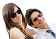 Couple wearing sunglasses