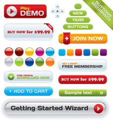 Vector business buttons mega-pack for different artwork