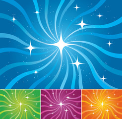 Set of colorful abstract vector backgrounds