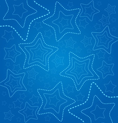 Blue background with stars and space for text