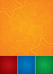Set of colorful backgrounds with stars