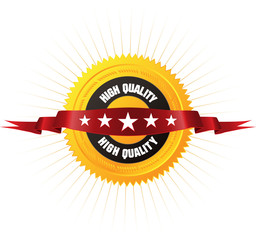 "Badge ""HIGH QUALITY"" for your online store or business artwork."