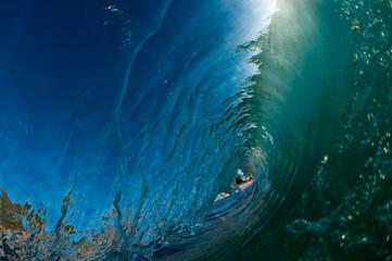 hollow ocean wave