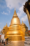 famous temple Phra Sri Rattana Chedi in the inner Grand Palace poster