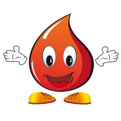 goccia sangue