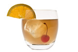 Whiskey Sour cocktail on a white background