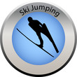 winter game button ski jumping