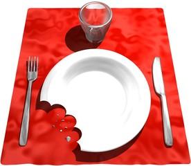 Assiette mangée