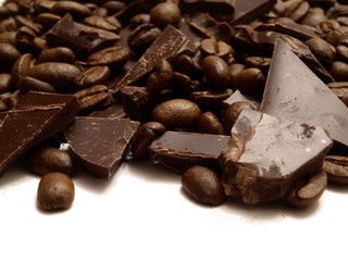 Fragrant coffee in a combination to gentle chocolate