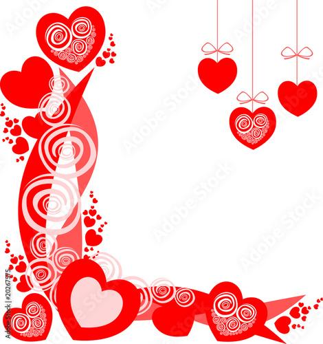 Cuori sfondo ispirato a san valentino immagini e for Immagini di cuori rossi