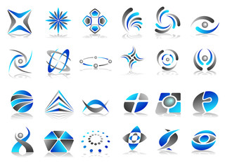 Vector Abstract Logo Icon Design Set