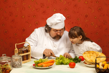 Cook and girl