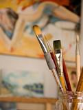 atelier de peinture 4 poster