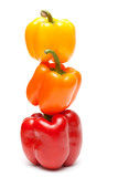 color peppers in a turret poster