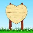 Cartello in legno a forma di cuore