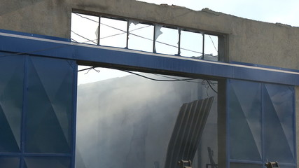 Fire in warehouse