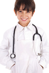 young boy dressed as doctor
