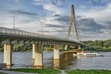 Swietokrzyski bridge on Vistula river in Warsaw. HDR technique.