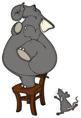 Mobbing, Angst, Phobie, Maus, Elefant, Ärger, ärgern