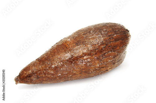 a isolated cassava on a white background