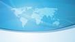 Abstrakter Hintergrund mit Weltkarte, blau